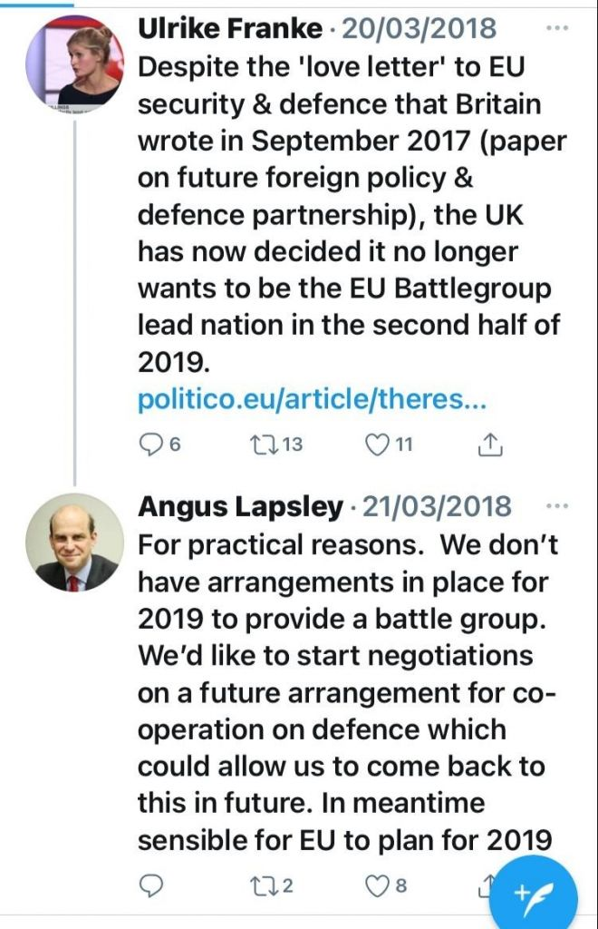 strong proponent of the EU Defence Union